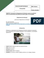 Proyectos Institucionales. Antioqueñidad (Calasanz) (1)