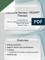 PS 572 PROMPT Presentation lit rev