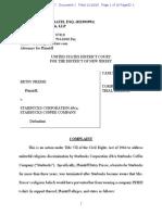 BETSY FRESSE v. STARBUCKS CORPORATION