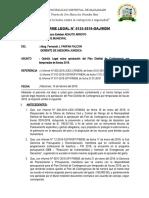 Informe N° 135-Opinion Legal sobre aprobacion de Plan de Contigencia