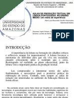 AULAS DE PRODUÇÃO TEXTUAL EM LÍNGUA PORTUGUESA  NO ENSINO MÉDIO 05-09-2018
