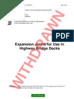 BD 33-94 Expansion Joints for Use in Highway Bridge Decks