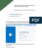 manual Web Lync para invitados