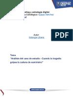 Análisis del caso de estudio - Cuando la tragedia golpea la cadena de suministro