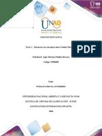 Tarea 1 Reconocer los Conceptos sobre la Gestion Educativa - Avtividad Inicial. - copia