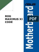 Asus ROG Maximus XI Code manual