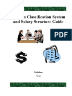 Salary Structure Position Class
