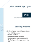 The Box Model & Page Layout