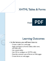 XHTML Tables & Forms