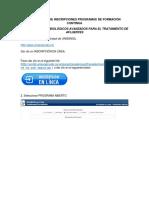 INSTRUCTIVO FORMACION CONTINUA TRATAMIENTO AFLUENTES