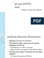 JavaScript and XHTML Documents