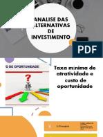 III ANALISE DAS ALTERNATIVAS DE INVESTIMENTO 1.pptx