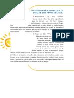 CONSEJOS PARA PROTEGER LA PIEL DE LOS NIÑOS DEL SOL