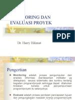 Monitoring Dan Evaluasi Proyek