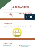 Cuatro Operaciones - Nivel 1