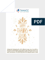 TAMACC - Wishing You and Your Family a Happy Thanksgiving