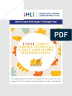 USHLI - Have a Safe and Happy Thanksgiving!