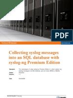 Collecting Syslog SQL DB