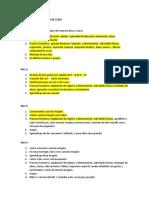 Estructura memorias de clase