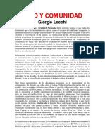 Mito y comunidad - Locchi, Giorgio