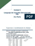 Unidad 5 Lenguaje de Consulta Estructurado SQL 5ta Parte