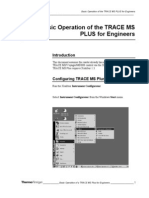 Trace MS Plus Basic Operation for Engineers
