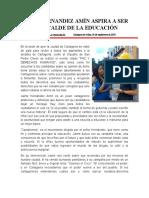 JAIME HERNANDEZ AMÍN ASPIRA A SER EL ALCALDE DE LA EDUCACIÓN