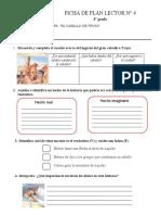 FICHA DE PLAN LECTOR  2020  N° 4  EL CABALLO DE TROYA (4°grado)