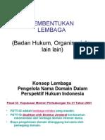 Badan Hukum Dan Organisasi