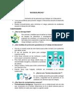BIOQUIMICA CUESTIONARIO - PRACTICAS I, II, III, IV Y V