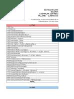 TALLER 2 clasificacion de cuentas contabilidad