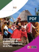 Lineamientos para el Desarrollo del Turismo Comunitario en el Perú 2019