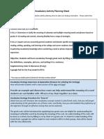copy of vocabulary activity planning sheet