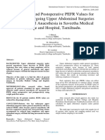 Preoperative and Postoperative PEFR Values for Patients Undergoing Upper Abdominal Surgeries Under General Anaesthesia in Saveetha Medical College and Hospital, Tamilnadu.