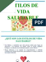 CHARLA ESTILOS DE VIDA SALUDABLE