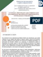 Características de la Admón Centralizada y Paraestatal (1)