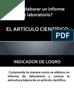 ¿Cómo elaborar un informe de laboratorio?