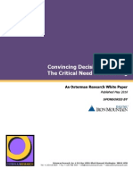 Osterman Research Whitepaper - Convincing Decision Makers of the Critical Need for Archiving
