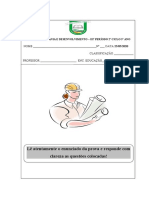 TESTE DE CIDADANIA E DESENVOLVIMENTO 5 ano