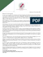 Lettre à Antonio Guterres Secrétaire général de l'Organisation des Nations Unies
