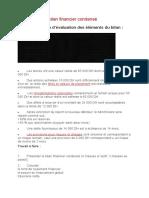 Td Exercice Sur Le Bilan Financier Condensé