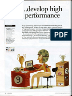 How to develop high performance