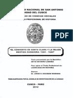 EL CONVENTO DE SANTA CLARA Y LA MUJER MESTIZA CUSQUEÑA.pdf