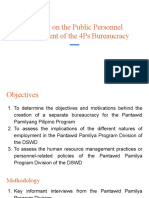 A Study on the Public Personnel Management of the 4Ps Bureaucracy