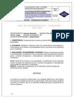 GUIA  DE  APRENDIZAJE No. 4    LA MATERIA