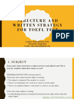 STRUCTURE AND WRITTEN STRATEGY FOR TOEFL TEST (1)