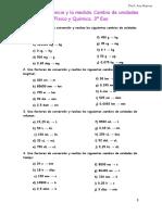 Física y Química. Tema 1. Conversión de Unidades. 3º Eso.