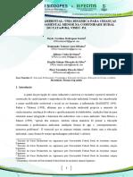 EDUCAÇÃO AMBIENTAL UMA DINÂMICA PARA CRIANÇAS DO ENSINO FUNDAMENTAL MENOR NA COMUNIDADE RURAL DO TATAJUBA, VISEU- PA