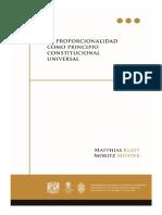 211 - La proporcionalidad como principio constitucional universal, 1a. reimp. - Obra Colectiva.pdf