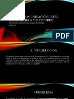 diapositiva proyecto falta de comunicación entre padres/tutores e hijos